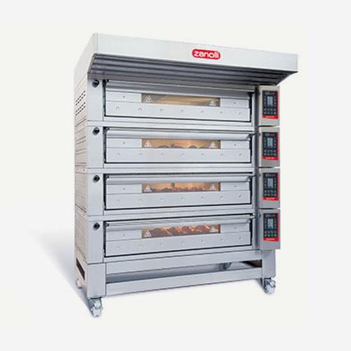 Horno Citizen para pizzería, disponible eléctrico o a gas, modular de Zanolli