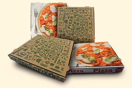 Cajas de pizzas de diseño estándar