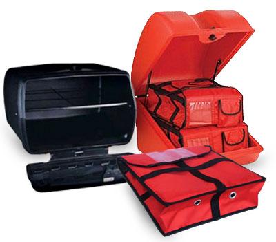 Baules para moto, bolsas isotérmicas y todo lo que necesitas para el reparto a domicilio.